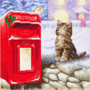 CAK-A108M: Postman Cat, 30x30cm Crystal Art Kit