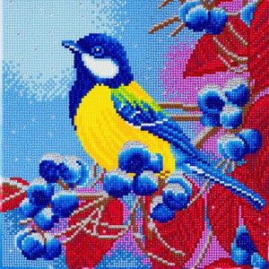 CAK-A109M: Christmas Bird, 30x30cm Crystal Art Kit