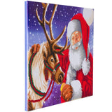 "CAK-A110L: ""Santa's Best Friend, 40x50cm Crystal Art Kit"