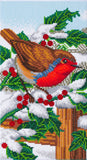 CAK-A113TT: Robin Friends Part 1, 40x22cm Triptych Crystal Art Kit