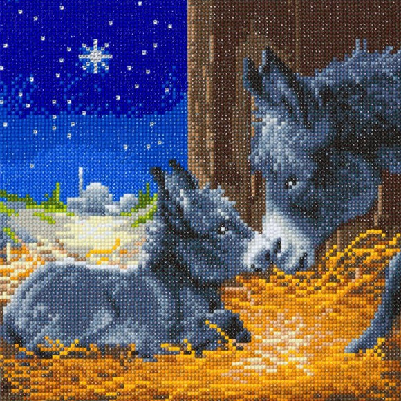 CAK-A119M: Little Donkey, 30x30cm Crystal Art Kit