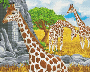 "CAK-A125L: ""Grazing Giraffes"" 40x50cm Crystal Art Kit"