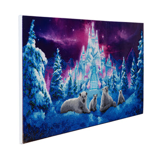 "CAK-A33: ""Ice Kingdom"" Framed Crystal Art Kit, 40 x 90cm"