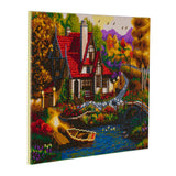 "CAK-A56: ""Riverside Cottage"" Framed Crystal Art Kit, 40 x 50cm"