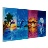 "CAK-A64: ""Day of the Dolphin"" Framed Crystal Art Kit, 40 x 90cm"