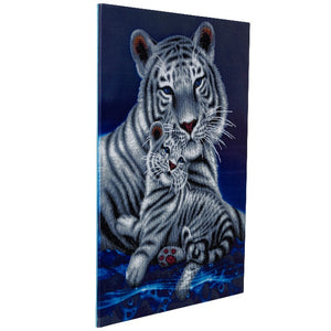 "CAK-A65: ""Loving Embrace White Tigers"" Framed Crystal Art Kit, 65 x 90cm (Giant Kit)"