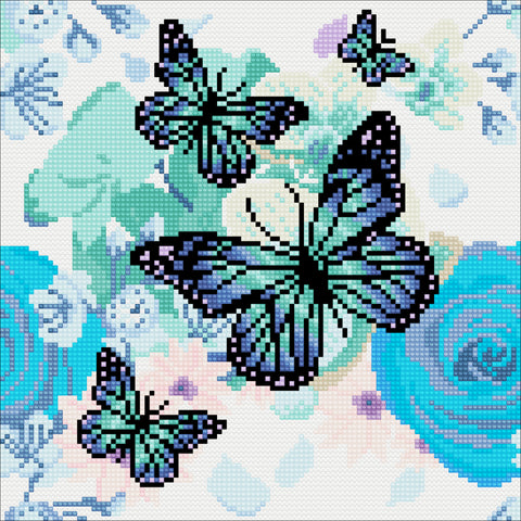 "CAK-A75: ""Orchids & Butterflies"" 30 x 30cm (Medium)"