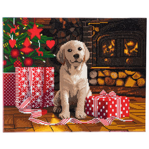 "CAK-A78: ""Labrador Pup"" Framed Crystal Art Kit, 40 x 50cm"