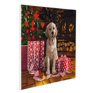 "CAK-A78: ""Labrador Pupp"" Framed Crystal Art Kit, 40 x 50cm"