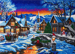 "CAK-A82: ""Tinsel Town"" Framed Crystal Art Kit, 90 x 65cm (Giant Kit)"