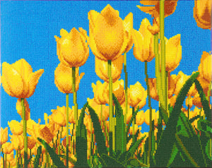 "CAK-A89: ""Spring Tulips"" Framed Crystal Art Kit, 40 x 50cm"