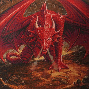 "CAK-AST4: ""Dragons Lair"" 70 x 70cm (Extra Large) - Anne Stokes"