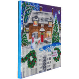 "CAK-XLED19: ""Christmas Cottage"", 40x50cm LED Crystal Art Kit"