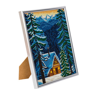 "CAM-19: ""Alpine Cottage"" Crystal Art Picture Frame Kit, 21 x 25cm - PRE-ORDER"