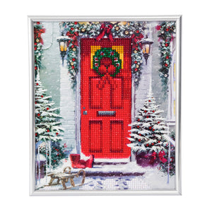 "CAM-20: ""Garland Door"" Crystal Art Picture Frame Kit, 21 x 25cm"