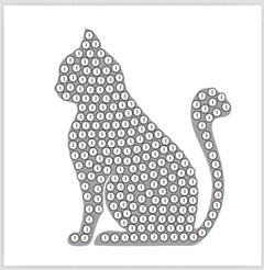"Silver Cat - ""Spring"" Crystal Art Motifs (With tools)"