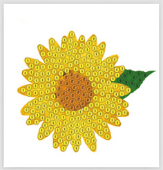 "Sunflower - ""Spring"" Crystal Art Motifs (With tools)"