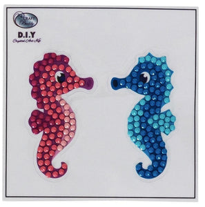 Seahorse Couple - Crystal Art Motifs (With Tools)