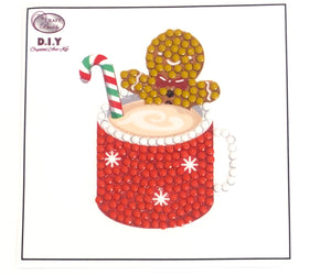 "Gingerbread Latte - ""Christmas"" Crystal Art Motifs (With Tools) - CAMK-39"
