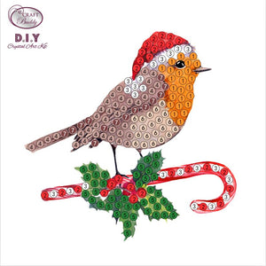"Christmas Robin  - ""Christmas"" Crystal Art Motifs (With Tools) - CAMK-42"