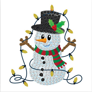 "Snowman Lights  - ""Christmas"" Crystal Art Motifs (With Tools) - CAMK-43"