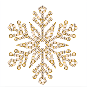 "Snowflake Gold  - ""Christmas"" Crystal Art Motifs (With Tools) - CAMK-44"