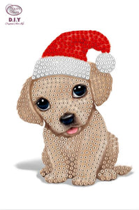 "Animal Club International Puppy  - ""Christmas"" Crystal Art Motifs (With Tools) - CAMK-46"