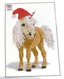 "Animal Club International Horse   - ""Christmas"" Crystal Art Motifs (With Tools) - CAMK-47"