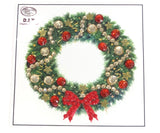 "Wreath   - ""Christmas"" Crystal Art Motifs (With Tools) - CAMK-48"