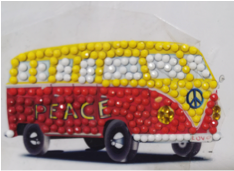 """Peace Camper Van"" Crystal Art Motif (With tools) - CAMK-50"