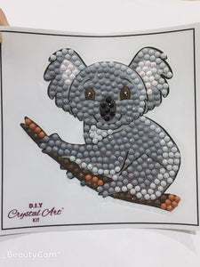 """Koala"" Crystal Art Motif (With tools) - CAMK-52"
