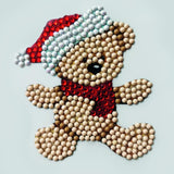 Christmas Teddy, 9x9xm Crystal Art Motif - CAMK-56