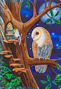 "CANJ-1 ""Owl and Fairy Tree"" Crystal Art Notebook Kit"