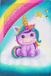 "CANJ-3 ""Unicorn Smile"" Crystal Art Notebook Kit, 26 x 18cm"