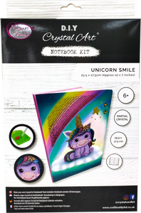 "CANJ-3 ""Unicorn Smile"" Crystal Art Notebook Kit"
