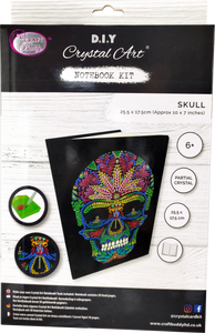 "CANJ-4 ""Skull"" Crystal Art Notebook Kit"