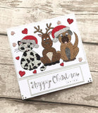CCST15: Craft Buddy Festive Friends A5 Crystal Art Stamp Set
