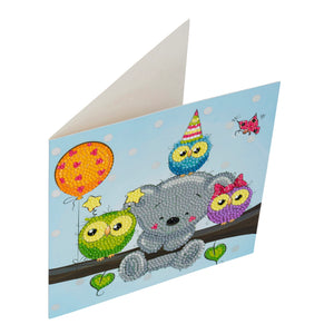 "CCK-A19: ""Birthday Friends"" Crystal Card Kit"