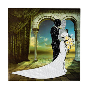 "CCK-A21: ""Wedding Couple"" Crystal Card Kit"