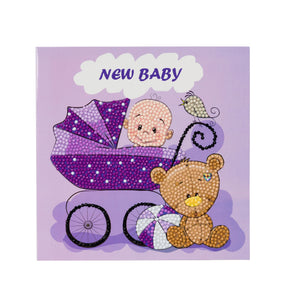 "CCK-A22: ""New Baby"" Crystal Card Kit"