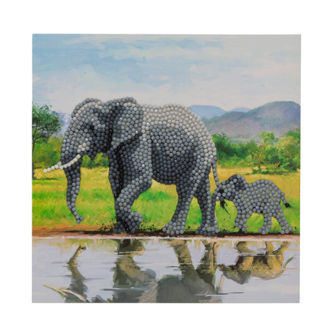 "CCK-A51 ""Elephants"" Crystal Art Card Kit"