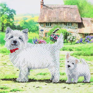 "CCK-A52 ""Westie Dogs"" Crystal Art Card Kit"