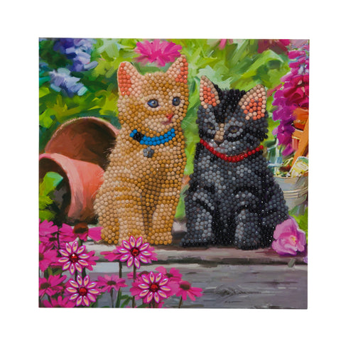 "CCK-A53 ""Cat Friends"" Crystal Art Card Kit"