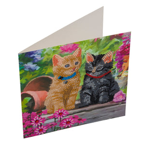 "CCK-A53 ""Cat Friends"" Crystal Card Kit"
