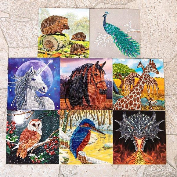 CCK-AW2020CARDSET8: Crystal Art Set of 8 Autumn/Winter 2020 Cards