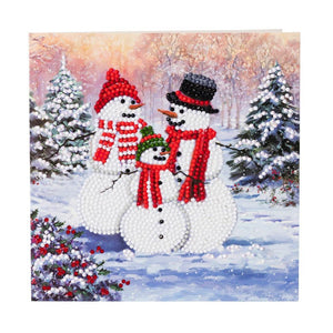 "CCK-XM28: ""Snowman Family"" Crystal Card Kit"