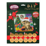 "CCK-XM35: Cozy Kitten"" Crystal Art Card Kit - Animal Club International"