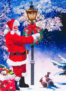 "CCKXL-10: ""Santa's Walk"", 21x29cm Giant Crystal Art Card"