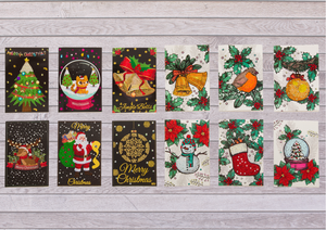 12-Card Christmas Card Kit Bundle
