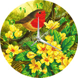 "CLK-S8: ""Summer Robin"" Crystal Clock Kit - 30cm"
